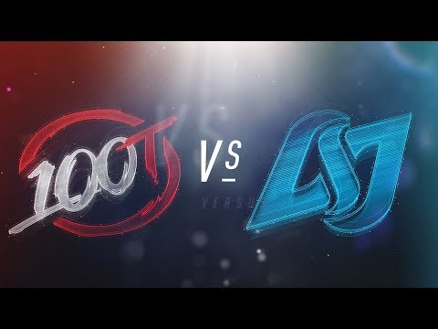 100 vs. CLG - NA LCS Week 1 Day 2 Match Highlights (Spring 2018)