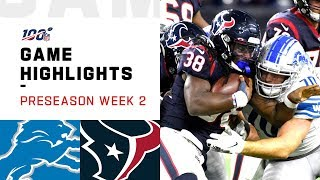 Lions vs. Texans Preseason Week 2 Highlights | NFL 2019 by NFL