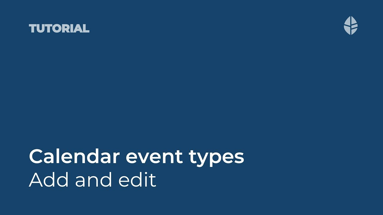 Add and edit event types in ThoughtFarmer 7 Video Thumbnail