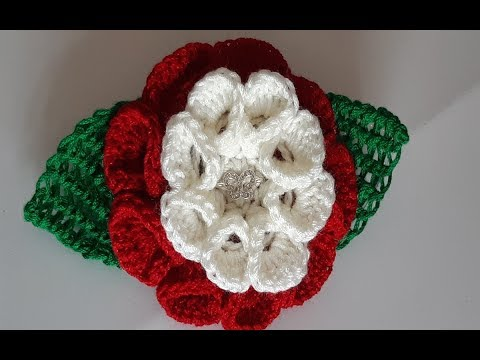 flor a crochet - tejido a ganchillo /subtitles in English
