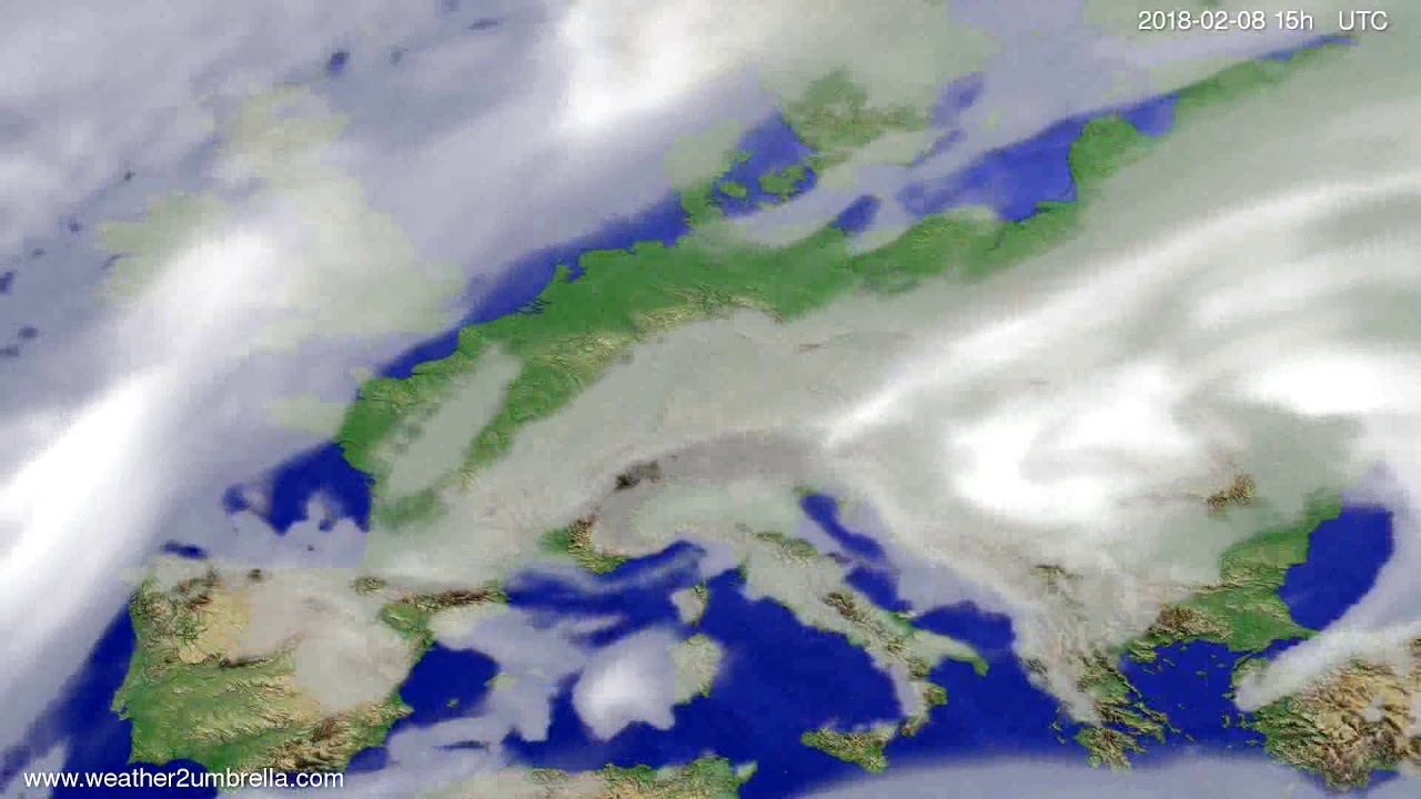 Cloud forecast Europe 2018-02-06