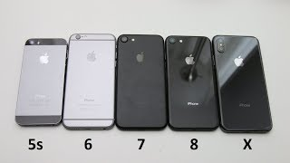 Unboxing iPhone X Space Gray vs. iPhone 8/6/5s Space Gray vs. iPhone 7 Black