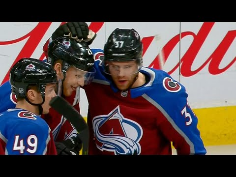 Video: MacKinnon scores twice within a minute as Avalanche pile it on Sharks