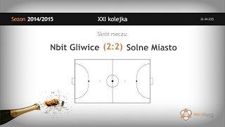 Nbit Gliwice vs Solne Miasto Wieliczka (21 kolejka) - skrót oraz dekoracja