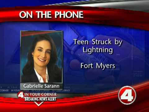 Boy struck by lightning during football practice
