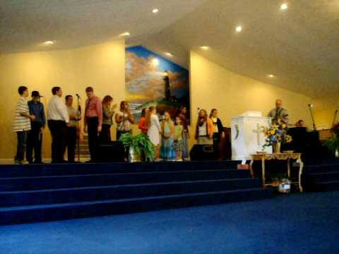 "Wind of Pentecost Apostolic Choir singing ""I've got it – Holy Ghost power…"""