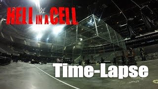 Watch a time-lapse video of the construction of the infamous Hell in a Cell