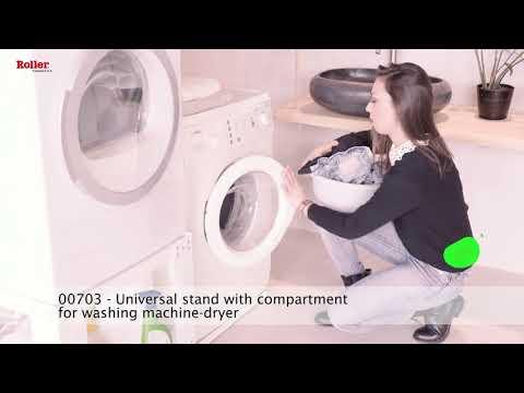 Appliance Pedestal Adjustable for Washing Machine or Dryer - White