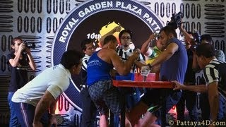 Arm Wrestling Championship 2013 On Royal Garden Plaza Pattaya