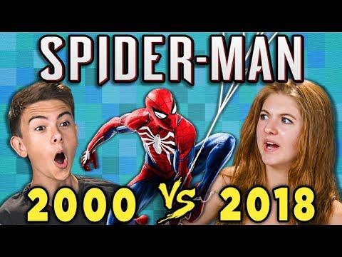Spider-Man Old vs New (2000 vs. 2018) (React: Gaming)