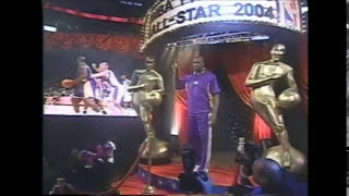Introduction of the western and eastern conference players in NBA All Star Game 2004 - Los Angeles, CA.