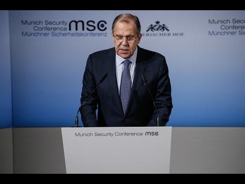 С.Лавров на Мюнхенской конференции по безопасности   Sеrgеу Lаvrоv's ат Мuniсh Sесuriту Соnfеrеnсе - DomaVideo.Ru