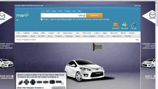 Mazda MSN Homepage.