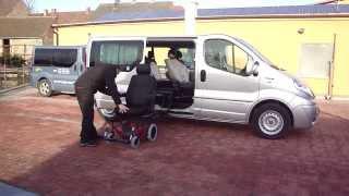 TURNY EVO + CARONY FIXED 001 ve voze RENAULT Trafic - přesun do vozu
