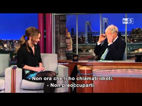 jannifer lawrence al david letterman 15/01/2013 sub ita