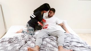 THROWING UP BLOOD PRANK!!!