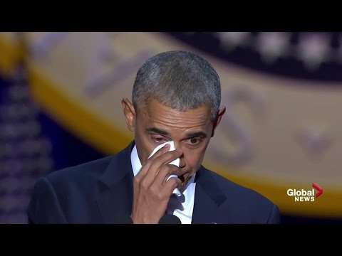 Download Obama tears up while speaking about wife, daughters during farewell speech HD Mp4 3GP Video and MP3