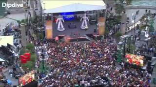 Лучший флэшмоб на выступлении Black Eyed Peas