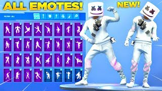 *NEW* MARSHMELLO SKIN SHOWCASE WITH ALL FORTNITE DANCES & NEW EMOTES! (Fortnite Season 7 Skin)