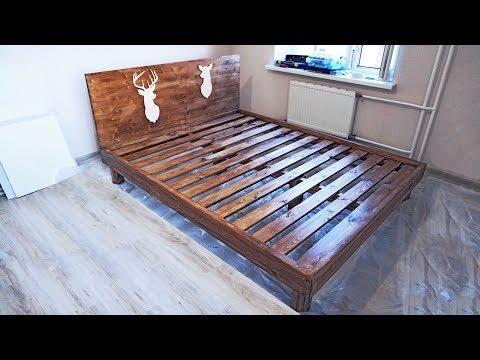 200 160 кровать из дерева как сделать