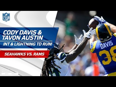 Video: Cody Davis' Leaping INT Sets Up Tavon Austin's Lightning-Fast TD! | Seahawks vs. Rams | NFL Wk 5