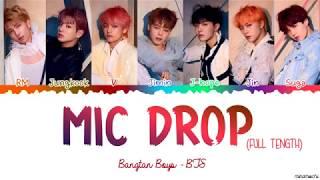 Video [Full Length Edition] BTS  - MIC DROP (Steve Aoki Remix) Lyrics [Color Coded Han_Rom_Eng] MP3, 3GP, MP4, WEBM, AVI, FLV Juli 2019