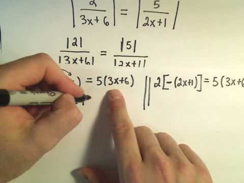 Solving Absolute Value Equations Containing TWO Absolute Value Expressions - Example 3