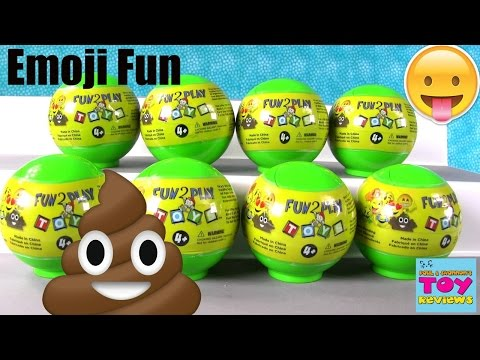 Squishy Animal Jam : Video: Emoji Squishy Blind Bag Emojiez Fun 2 Play Toy Review PSToyReviews