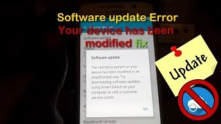 Here is what to do when you get the Software update error Your device has been modified on the any Samsung Galaxy device and how to fix it easily. Start getting updates again as you normally would through your phone using Over the air updates (OTA) after this fix.Download Smart Switch(New Phones):http://tinyurl.com/l6ml5yeDownload Kies (Older devices):http://tinyurl.com/nlyseh2