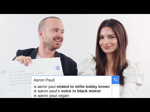Aaron Paul and Emily Ratajkowski Answer the Internet s Most Searched Questions About