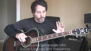 Beginner Guitar Lesson - Scales, Riff&Chords on the Fretboard