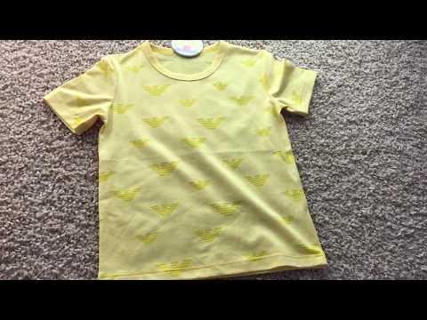 Детская футболка желтого цвета видео