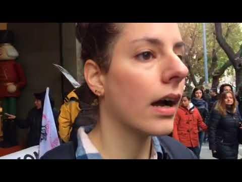 Video - Θεσσαλονίκη: Διαμαρτυρίες ενάντια στην κυριακάτικη εργασία