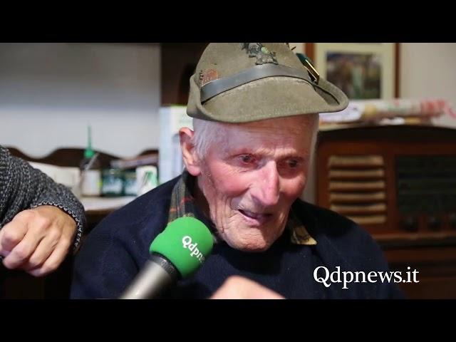 Cison - Auguri al decano degli alpini Giovanni Dell'Oglio
