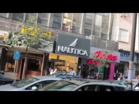 Mock war scene in Hamra street - enacted April 13 2012