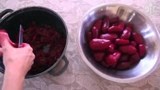 Conserve de betteraves rouges au vinaigre