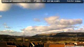 15 February 2013 - WeatherCam Timelapse - FifeWeather.co.uk