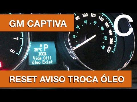 Dr CARRO Captiva Reset Aviso Troca de Óleo - GM