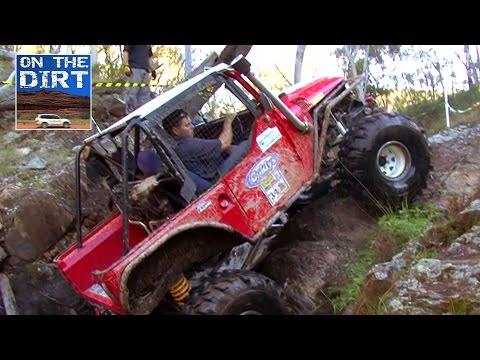 landcruiser - This Toyota Landcruiser makes its way up a fast flowing creek bed and then up a waterfall. Not a bad effort either featuring Allan Cox from the