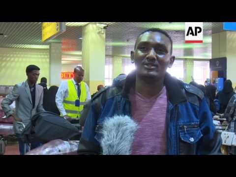 nterview with Undocumented Ethiopian migrants returning home from Saudi Arabia - AP