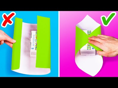 13 QUICK AND EASY GIFT-WRAPPING HACKS