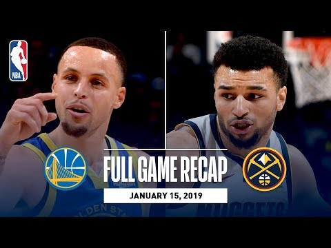 Video: Full Game Recap: Warriors vs Nuggets | Curry, Thompson, & Durant Combine For 89