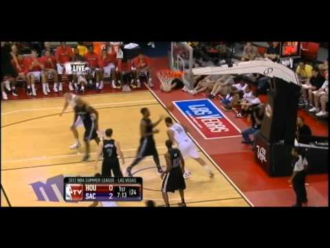 [7.16.12] Royce White - One Handed Slam in Transition vs Kings (SL)