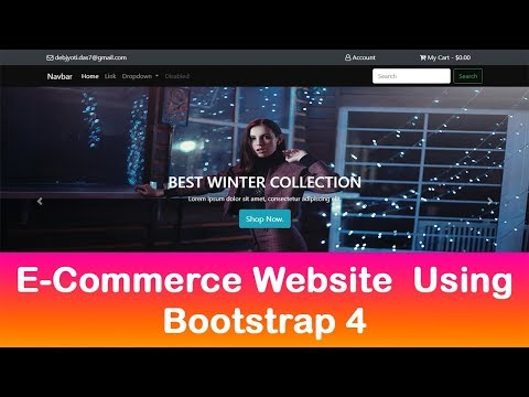 Bootstrap 4 Website Built From Scratch In 1 Hour - ECommerce Website With Bootstrap 4