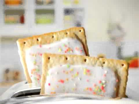 pop tart - a weird kid dancin to retarted music and eating poptarts.