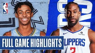 GRIZZLIES at CLIPPERS   FULL GAME HIGHLIGHTS   February 24, 2020 by NBA