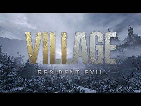 The Resident Evil: Village logo looms large in white font.