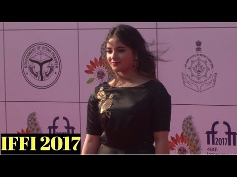 Zaira Wasim Attends Red Carpet At IFFI 2017 Closing Ceremony