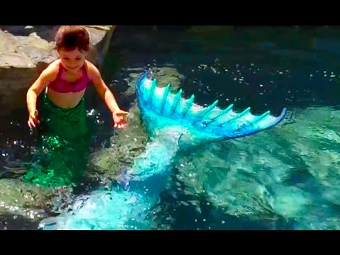 A Little Mermaid's Birthday Surprise With Mermaid Melissa