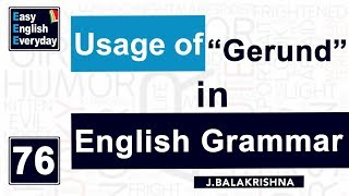 "Video Spoken English conversation videos   How to Use ""Gerund""  English learning videos  Free ESL Teachers MP3, 3GP, MP4, WEBM, AVI, FLV April 2018"